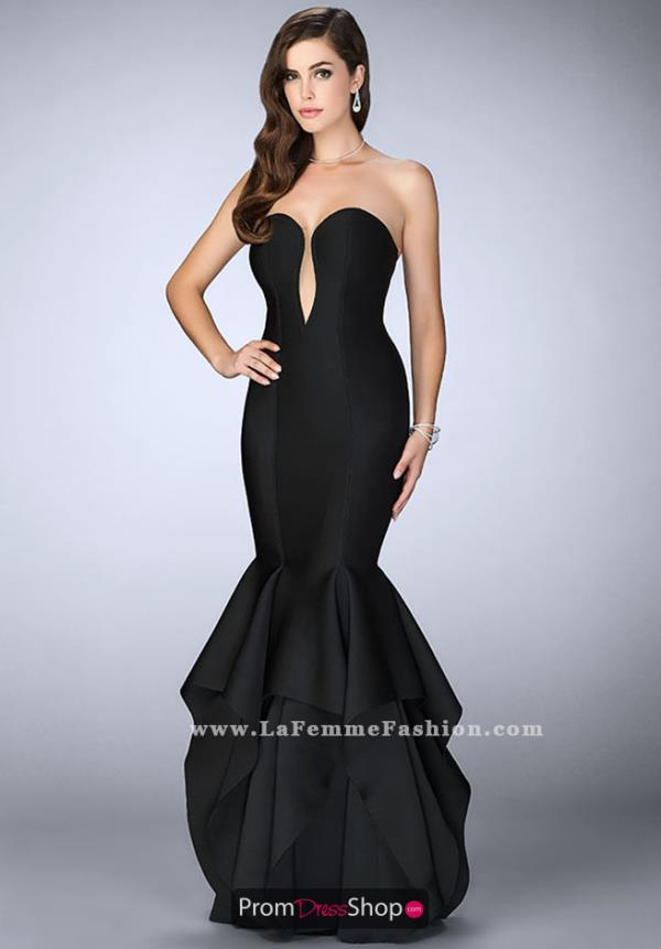 La Femme Long Sweetheart Dress 24537