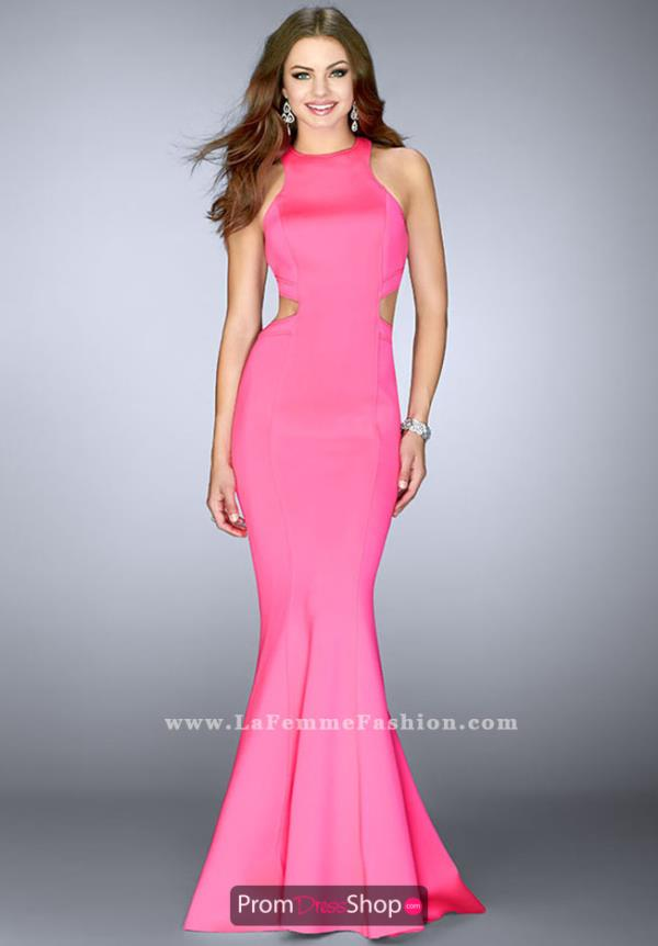 La Femme Fitted Long Dress 24636