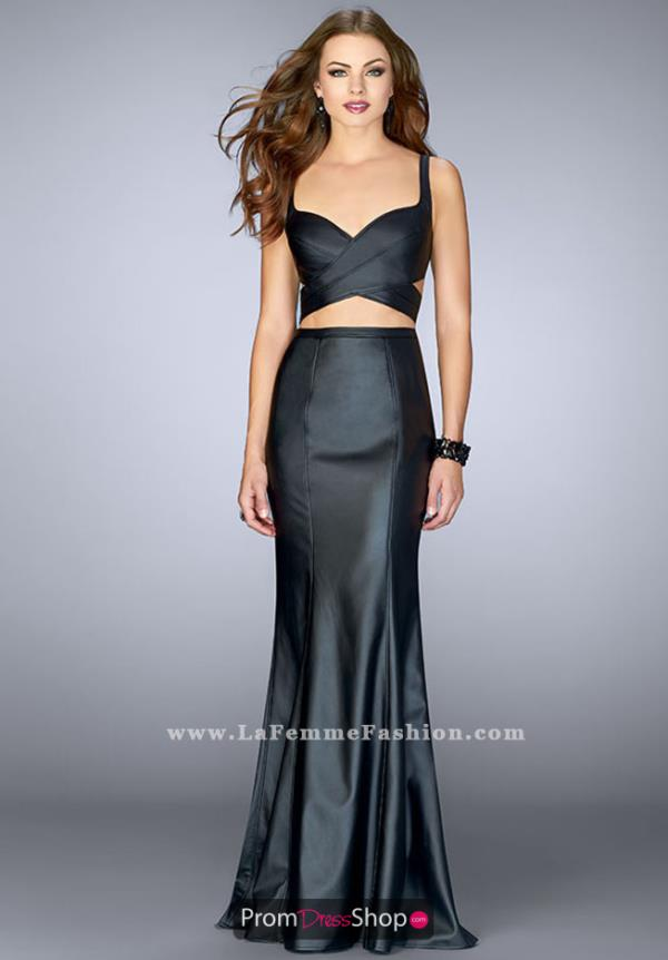 La Femme Fitted Long Dress 24744