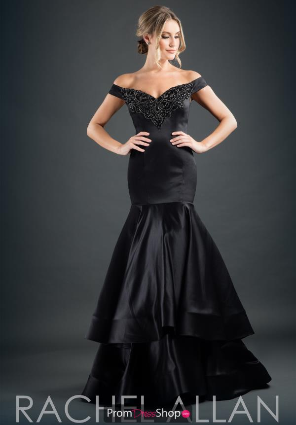 Rachel Allan Long Satin Dress 8235