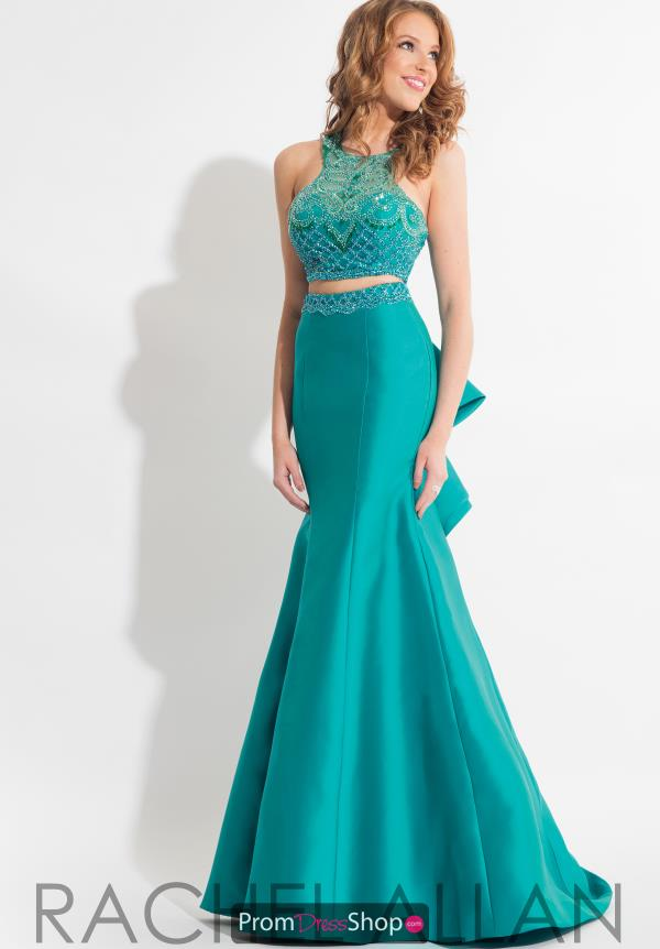 Rachel Allan Mermaid Beaded Dress 7654