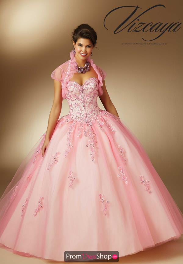 Vizcaya Quinceanera Lace Back Ball Gown 89047