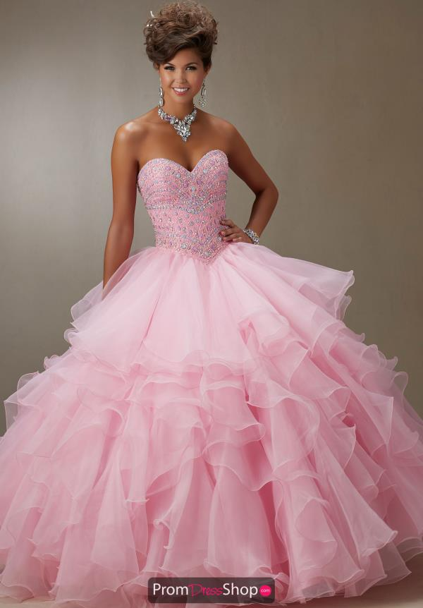 Organza Beaded Vizcaya Quinceanera Gown 89061