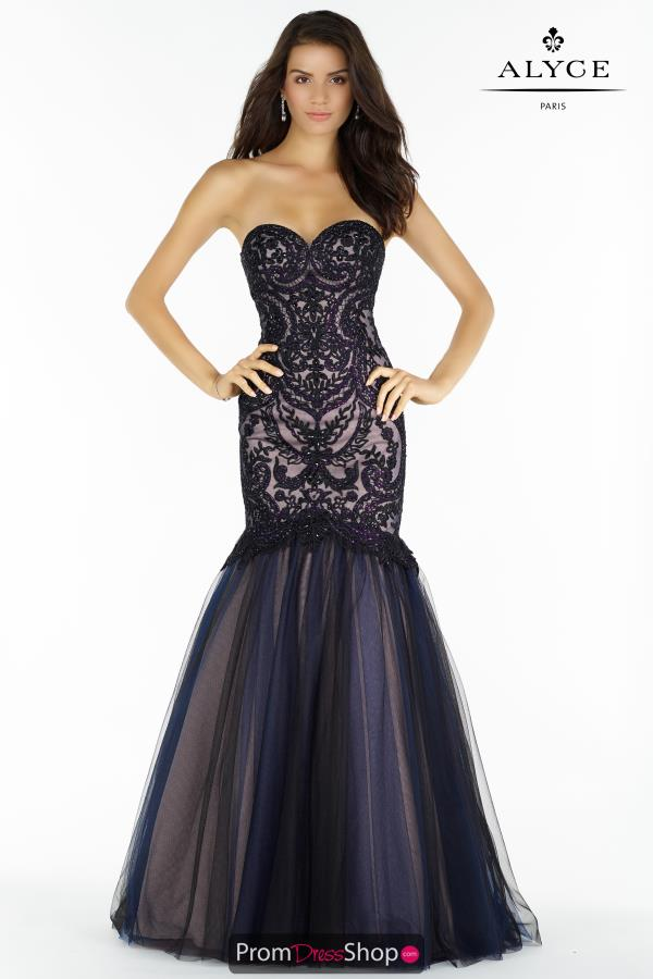 Alyce Paris Beaded Long Dress 446752