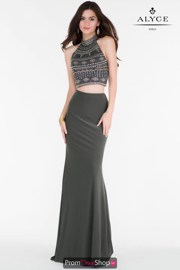 Alyce Paris Fitted Beaded Dress 6699