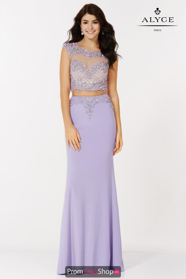 Alyce Paris Two Piece Long Dress 6704