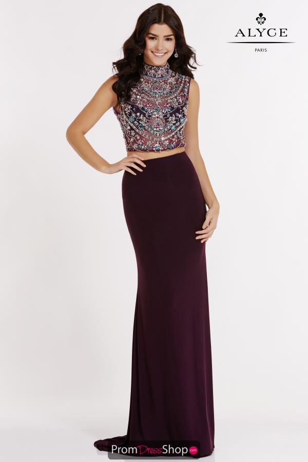 Alyce Paris Jersey Fitted Dress 6705