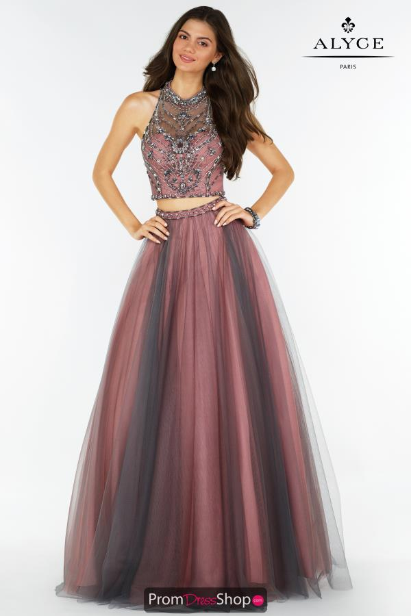 Alyce Paris Two Piece Tulle Dress 6766