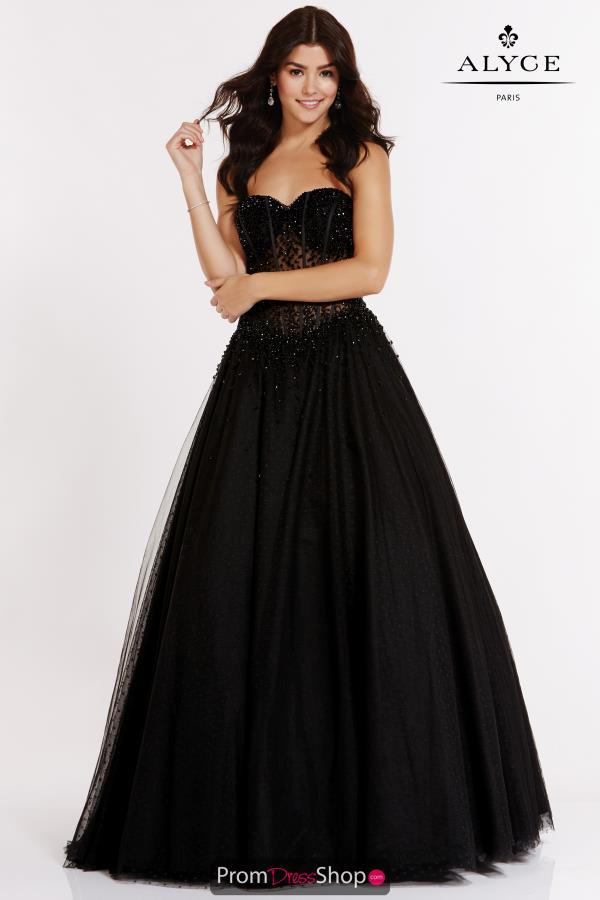 Alyce Paris Long Tulle Dress 6783