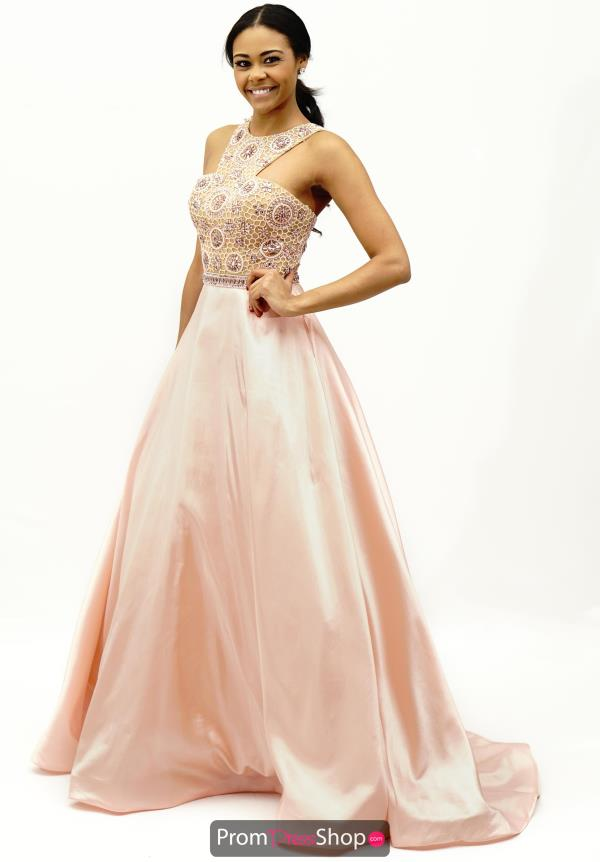 Sherri Hill Satin Beaded Dress 50106