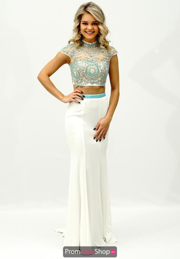 Beaded Two Piece Sherri Hill Dress 50154