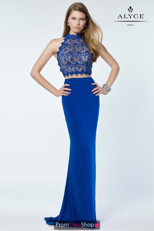 Alyce Paris Fitted Beaded Dress 6737