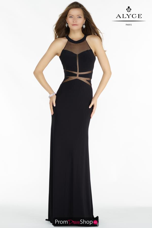 Alyce Paris Halter Fitted Dress 8014