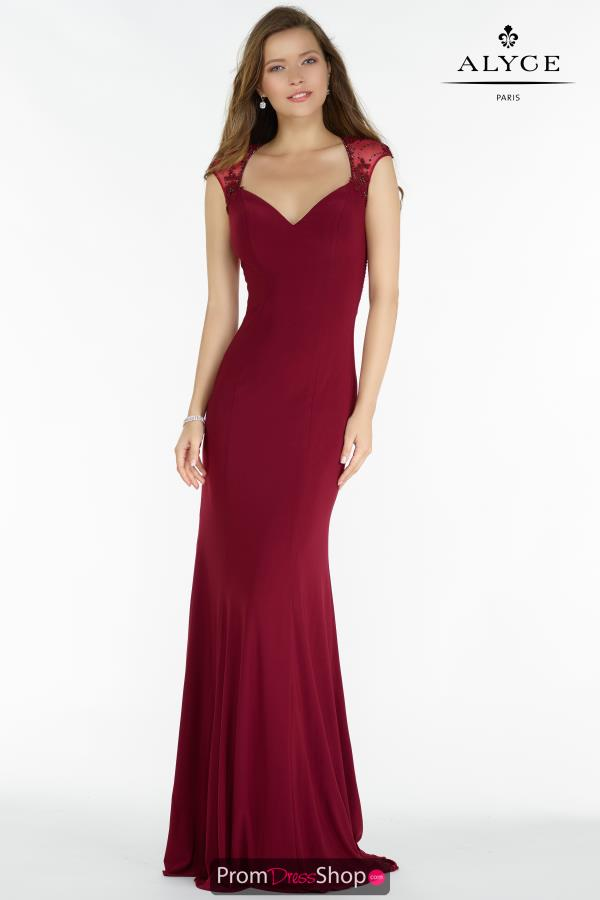 Alyce Paris Cap Sleeve Fitted Dress 8017