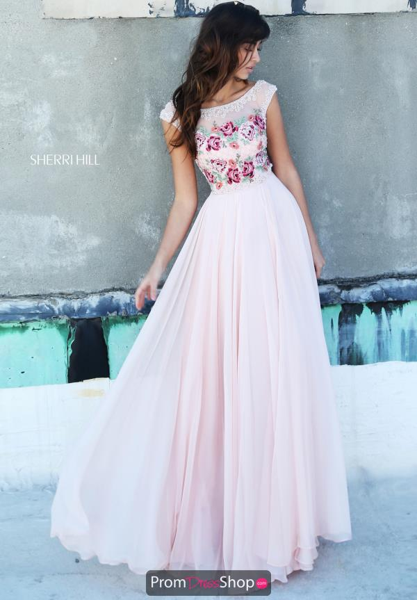 Sherri Hill Floral Long Dress 51249