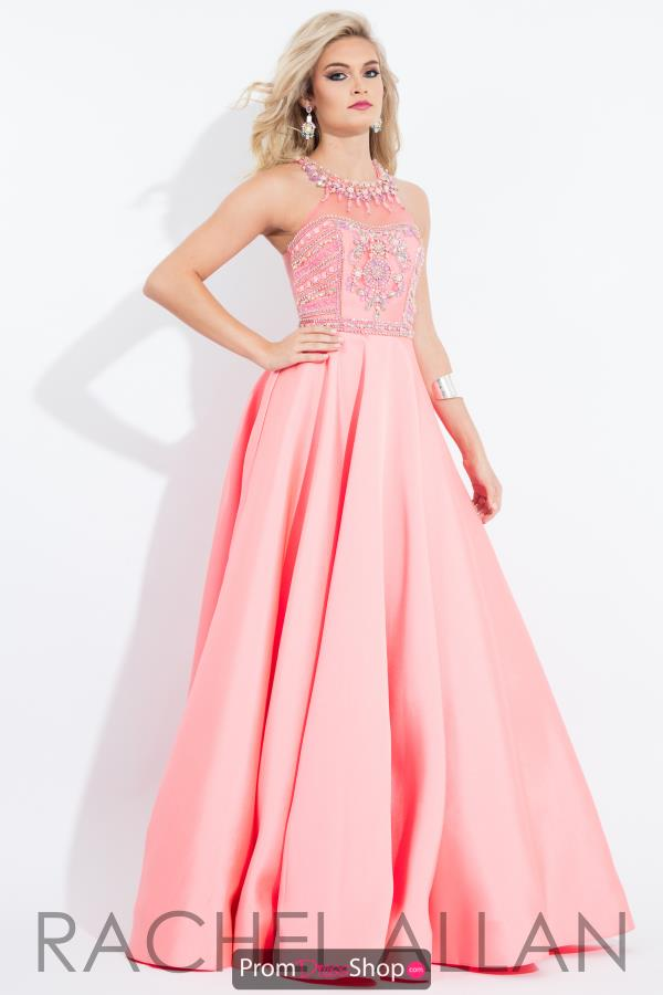 Halter A Line Rachel Allan Princess Dress 2098