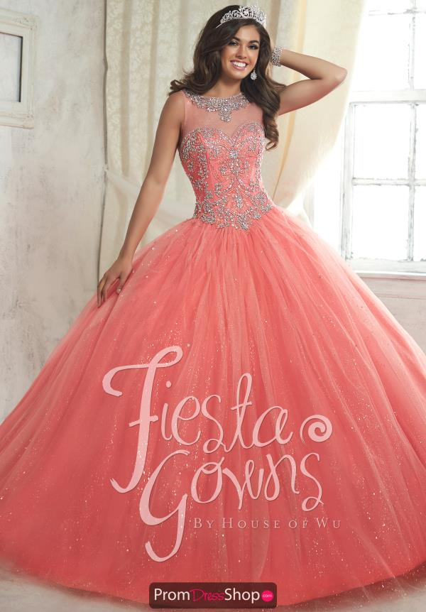 Tiffany Quince 56315 High Neckline Ball Gown