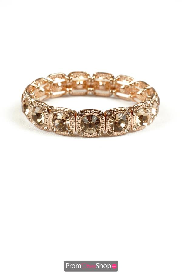 Stretchable Bracelet in Rose Gold