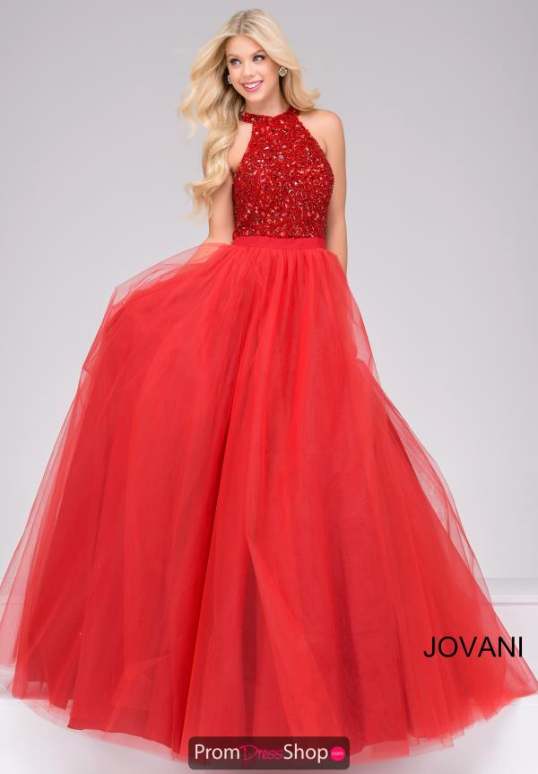Jovani Halter Neckline Long Dress 40438