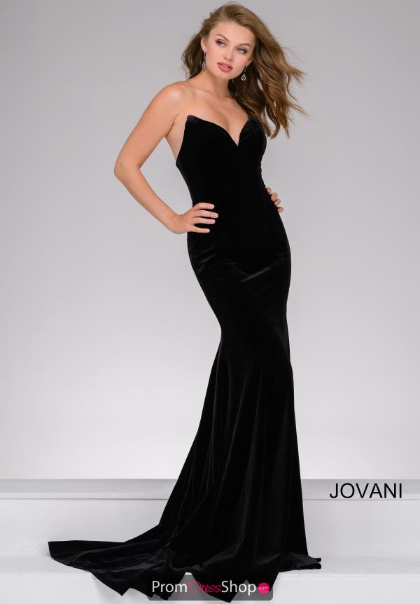 Jovani Velvet Fitted Dress 40786