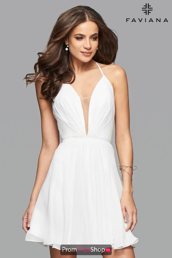A Line V- Neckline Faviana Dress 7851