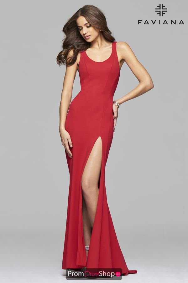 Faviana Long Fitted Dress 7901