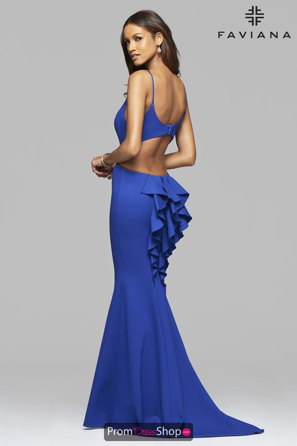 Faviana V- Neckline Long Dress 7902