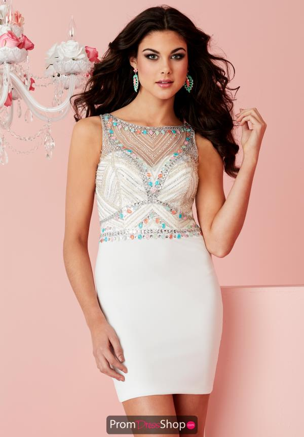 Fitted High Neckline Hannah S Dress 27094
