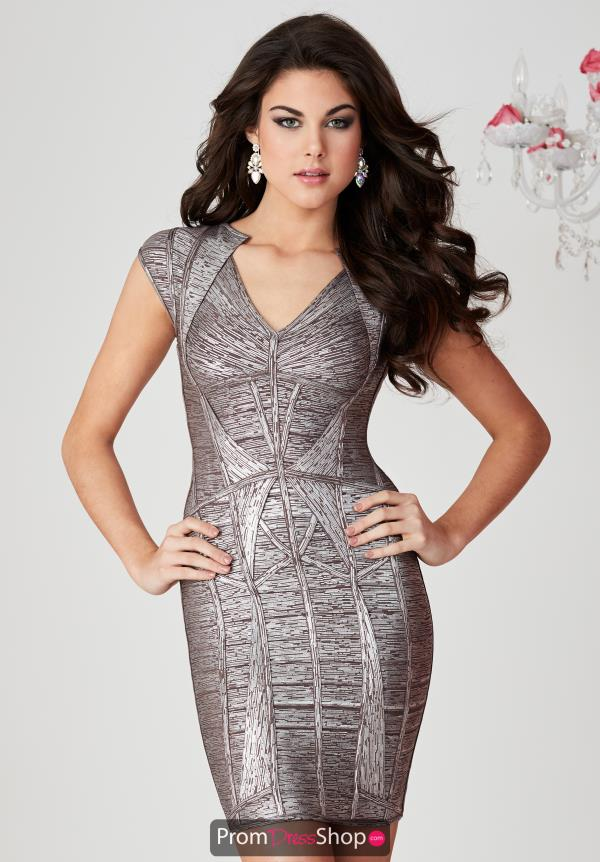 Hannah S Sleeved Fitted Dress 27106