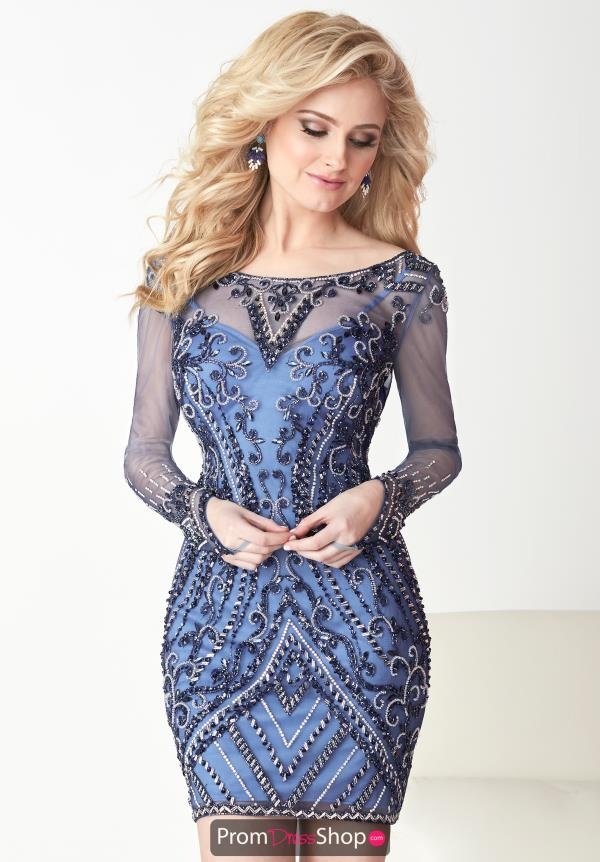 Hannah S Beaded Short Dress 27114