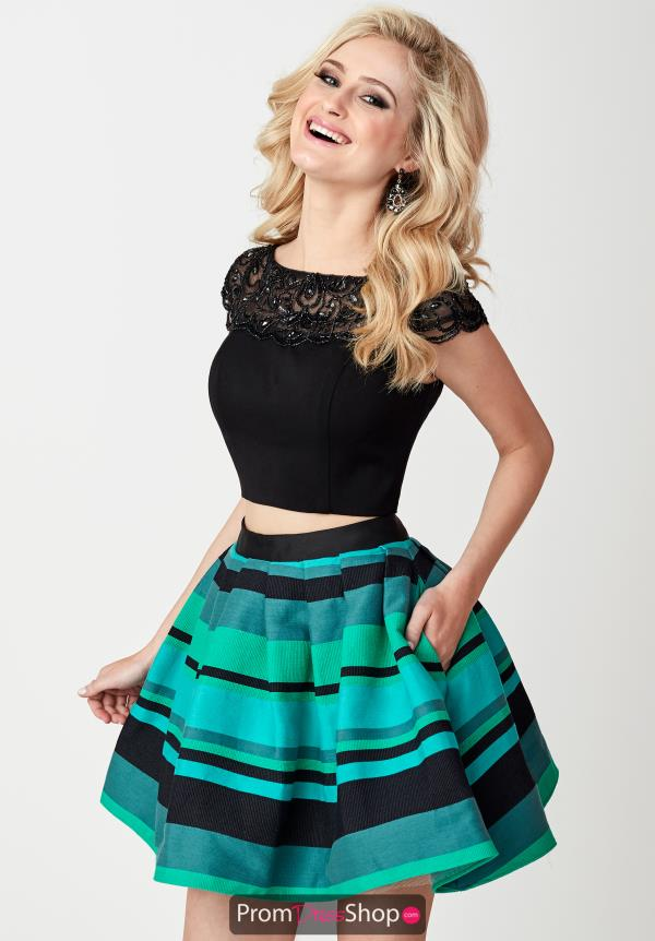 Hannah S Black Two Piece Dress 27116