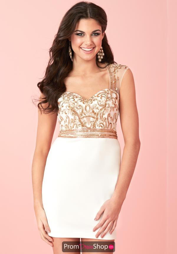 Cap Sleeved Beaded Hannah S Dress 27132