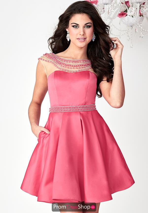 Hannah S Beaded High Neckline Dress 27133