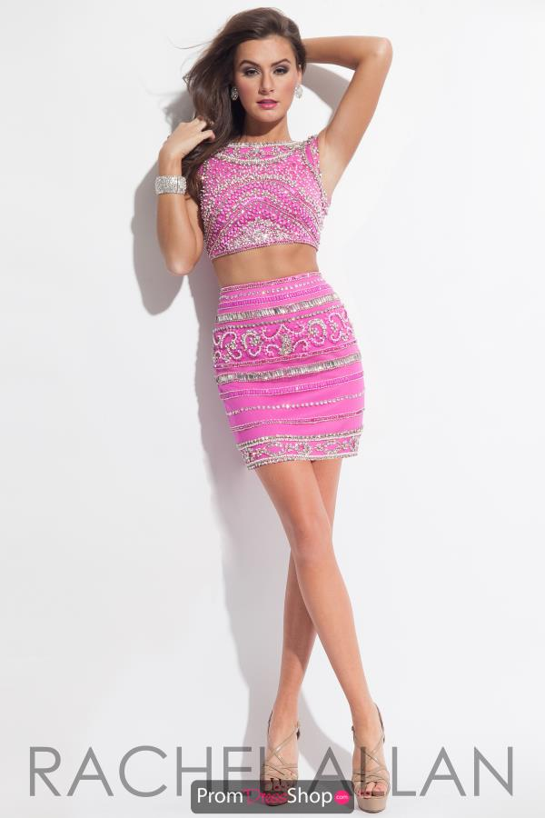 Two Piece Beaded Rachel Allan Dress 4137