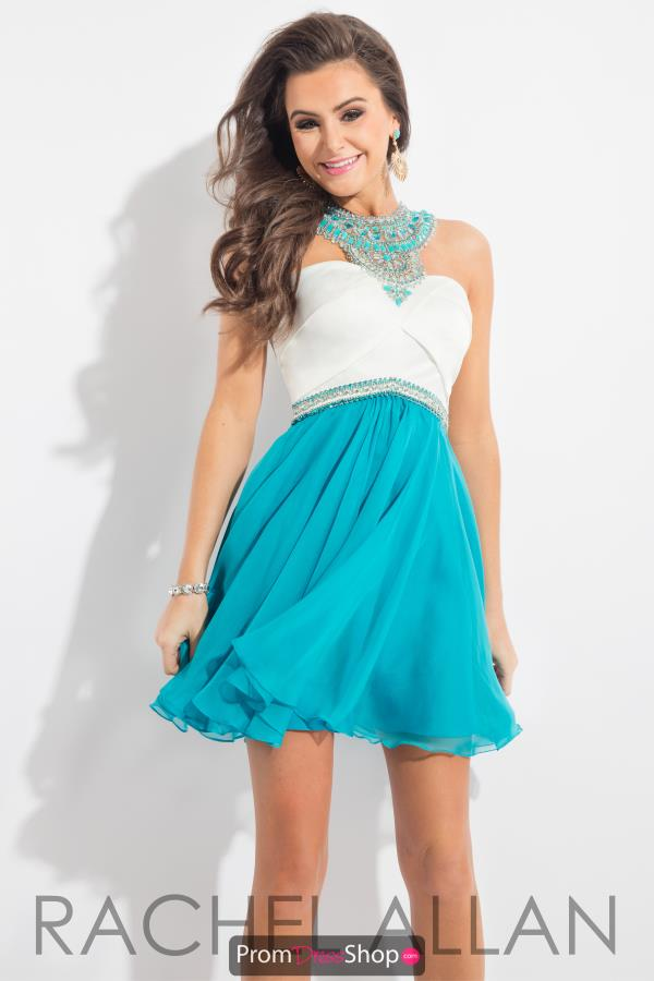 Short Beaded Rachel Allan Dress 4181