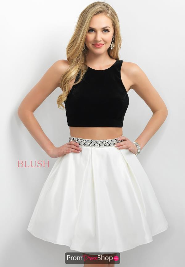 Short Two Piece Blush Dress 11188