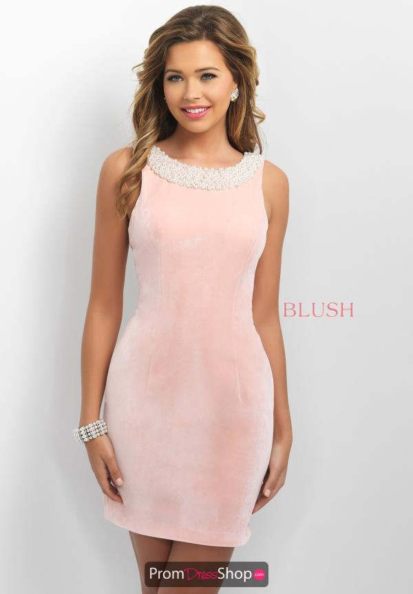 Blush Velvet Fitted Dress C366