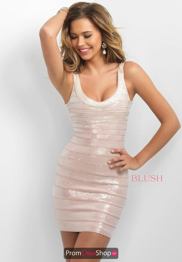 Fitted Short Blush Dress C373