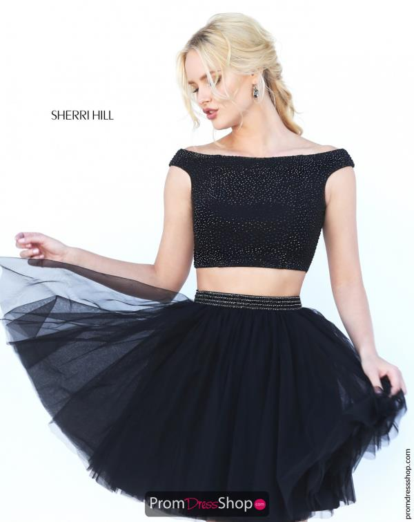 Sherri Hill Short Tulle Dress 50497