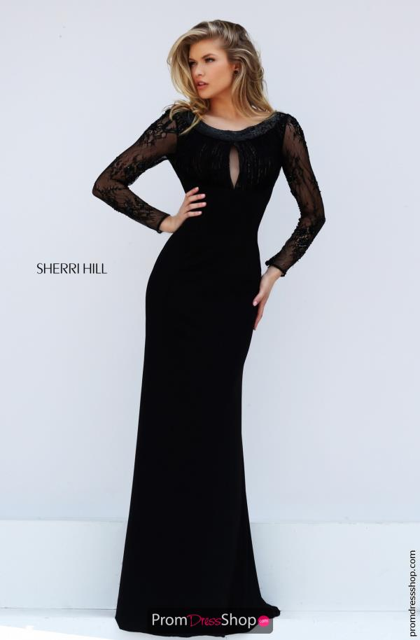 Long Sleeved Fitted Sherri Hill Dress 50511