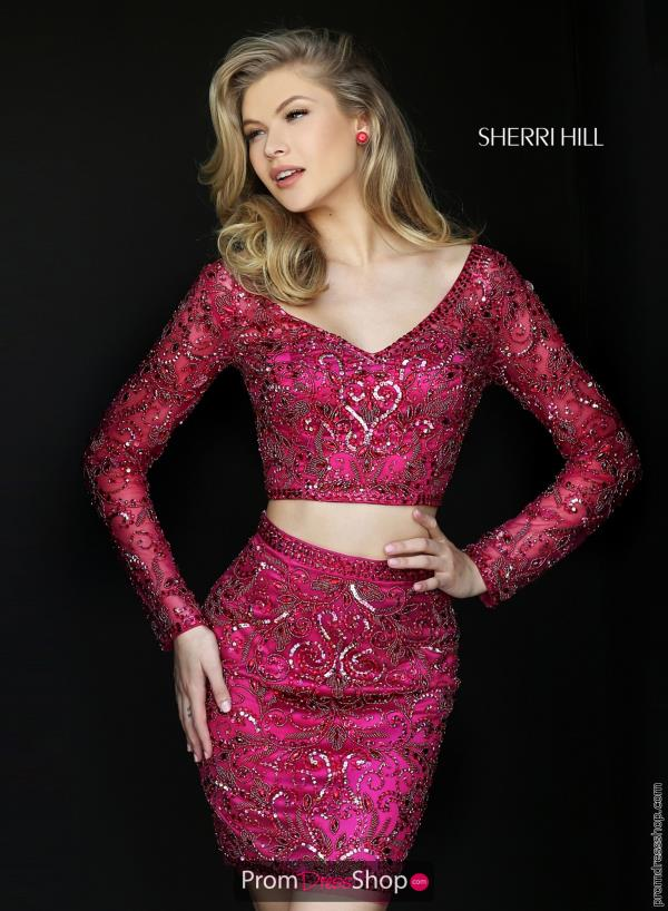 Two Piece Sherri Hill Short Dress 50529