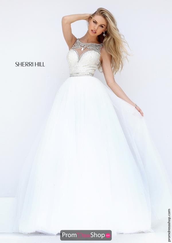 Sherri Hill Beaded A Line Dress 50562