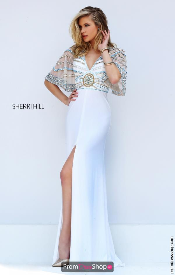 Sherri Hill V- Neckline Fitted Dress 50591