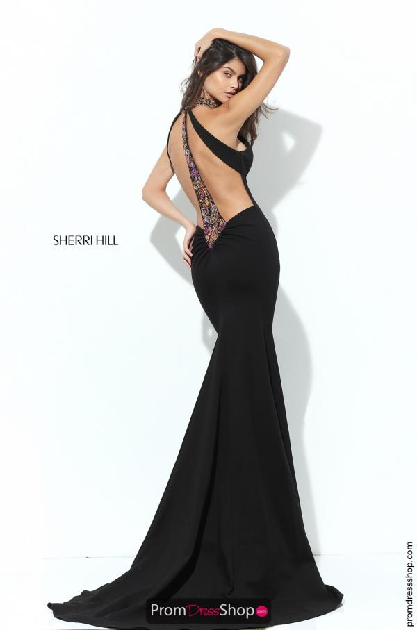 Beaded Sexy Back Sherri Hill Dress 50594