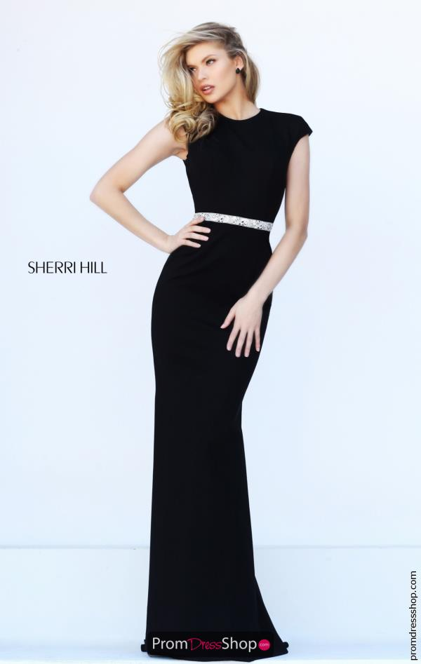 Fitted Long Sherri Hill Dress 50646