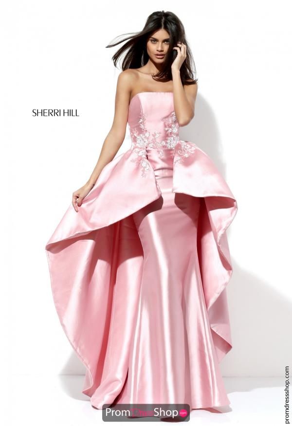 Sherri Hill Taffeta Fitted Dress 50685