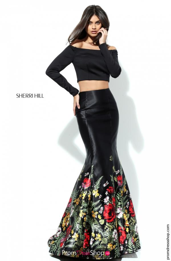 Sherri Hill Print Mermaid Dress 50770