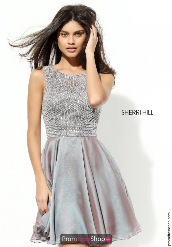 Sherri Hill Short Chiffon Dress 50517