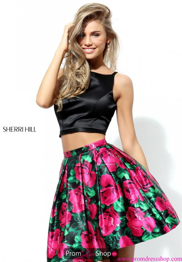 Sherri Hill Short Two Piece A Line Dress 50582