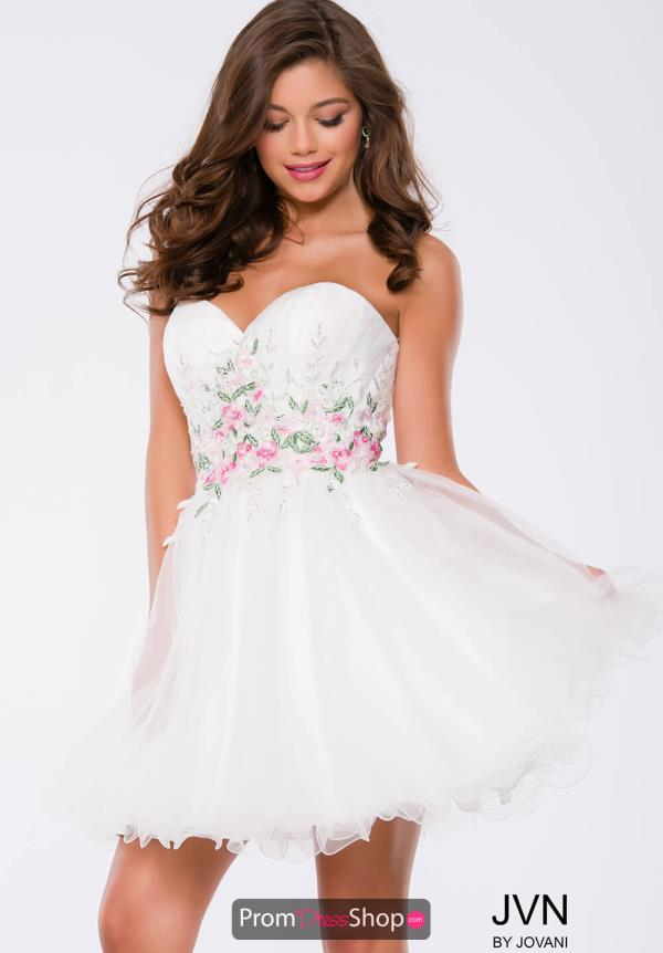 JVN by Jovani Sweetheart Neckline Tulle Dress JVN40998